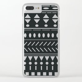 Nordic Pattern XVIII Clear iPhone Case