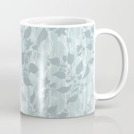 Pale blue Beautiful grass. Coffee Mug
