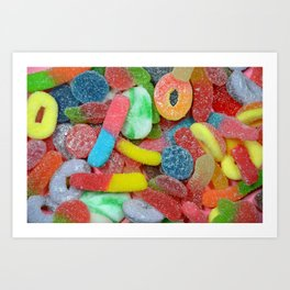 Colorful chewy candy Art Print