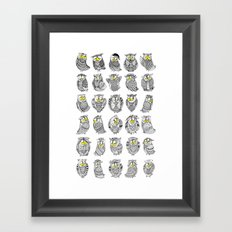 Sleepy Owls Framed Art Print