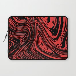 Red and black marble pattern Laptop Sleeve