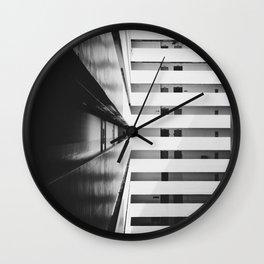 Folded Lines 2 Wall Clock