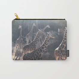 Giraffe National Park // Spotted Long Neck Graceful Creatures in Wildlife Preserve Carry-All Pouch