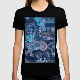 Star Atlas Vintage Constellation Map Blue Ignace Gaston Pardies T-shirt
