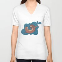 otters V-neck T-shirts featuring Underwater Otters by Amarie