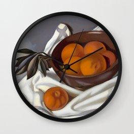 Still Life with Tangerines portrait by Tamara de Lempicka Wall Clock