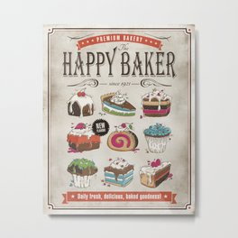 Happy Baker Metal Print