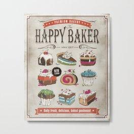 Happy Baker Metal Print