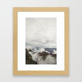 Foggy Grand Canyon Framed Art Print