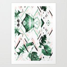 Tropical paint texture Art Print