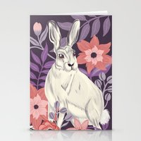 hare Stationery Cards featuring Hare by Abbie Imagine
