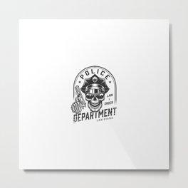Concepto Emblema Policia Vintage Metal Print