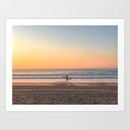 First wave at Narragansett Beach Art Print