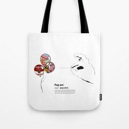 POP ART DICTIONARY Tote Bag