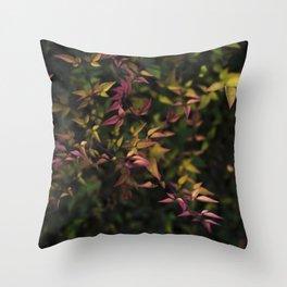 Leaves V Throw Pillow