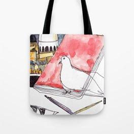 Birds Journals Paris Tote Bag