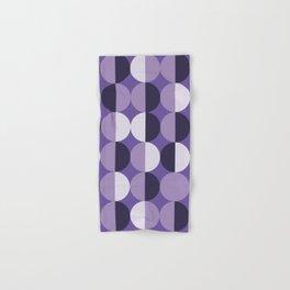 Retro circles grid purple Hand & Bath Towel
