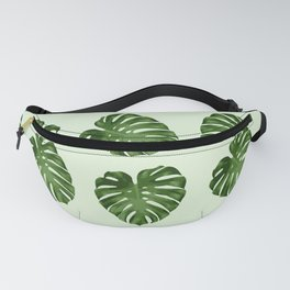 Palm Leaves, Leaf Pattern - Green Fanny Pack