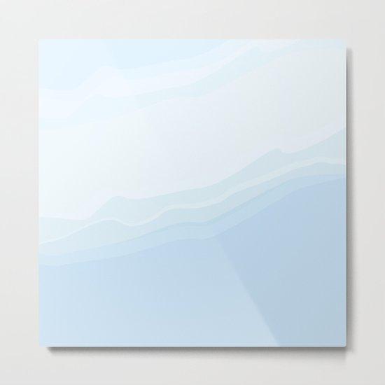 Souffle , blue Metal Print
