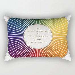 Chevreul Cercle Chromatique, 1861 Remake, renewed version Rectangular Pillow