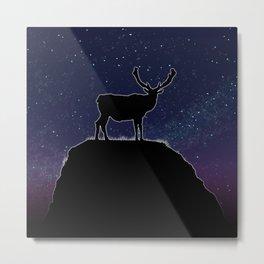 Deer Time Metal Print