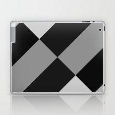 Angled Black and Gray Gradient Laptop & iPad Skin