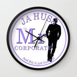 Mr. Corporate by JA Huss Wall Clock
