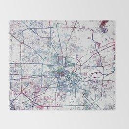 Houston map Throw Blanket