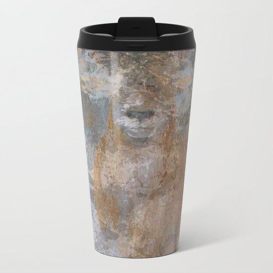 Oil paint buf Metal Travel Mug