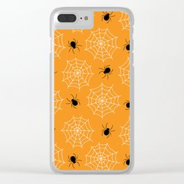 Halloween Spider Web Seamless Pattern Clear iPhone Case