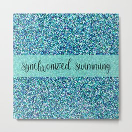 Glitter Synchronized Swimming Metal Print