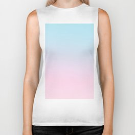 VAPORWAVE - Minimal Plain Soft Mood Color Blend Prints Biker Tank