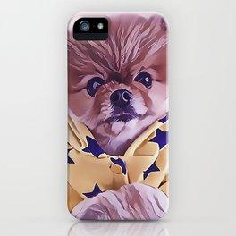 Pomeranian Wearing Pajamas iPhone Case