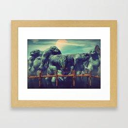 Innsmouths' That Way Framed Art Print