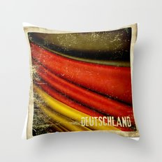 STICKER OF GERMANY flag Throw Pillow
