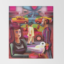 Taxi Stand Throw Blanket