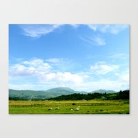 scotland Canvas Prints featuring Highlands Scotland by seb mcnulty