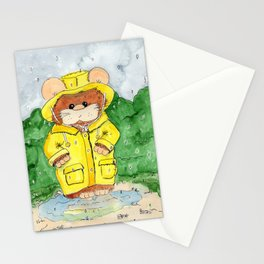 Hammy in a Raincoat Stationery Cards