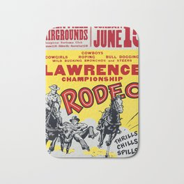 Lawrence Championship Rodeo Bath Mat