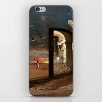 return iPhone & iPod Skins featuring  No Return by Barbara Aitchison's ArtAllure