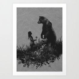 The Bear Encounter Art Print