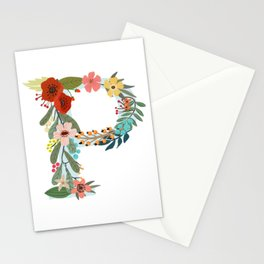 Monogram Letter P Stationery Cards