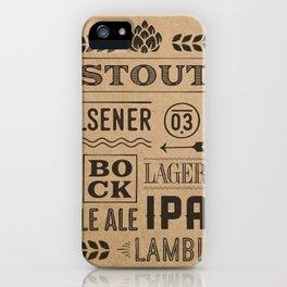 Type beer iPhone Case
