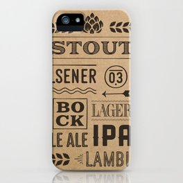 Type beer iPhone Case