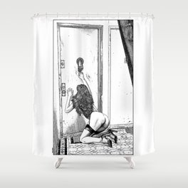 asc 700 - L'audience reportée (The missed handshake) Shower Curtain