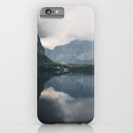 famous Hallstätter Lake in Austria iPhone Case