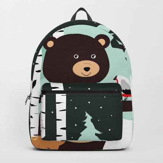 Friends in winter Backpack