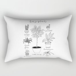 House Plants Print Rectangular Pillow