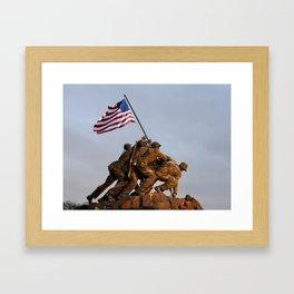 US Marine Corps Memorial Framed Art Print