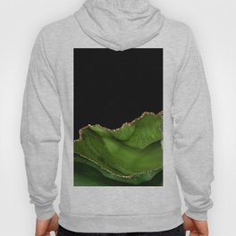 Green & Gold Agate Texture 06 Hoody